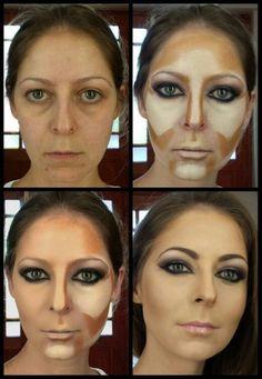 Contour by vicky romans www vixenart co za Makeup Tips Contouring, Makeup 101, Face Contouring, Contour Makeup, Skin Makeup, Beauty Make-up, Beauty Hacks, Power Of Makeup, Make Up Looks