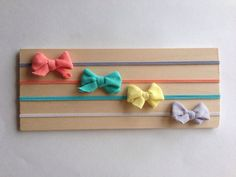 Mini bow headbands baby headband small bow por littlenuggetrepublic
