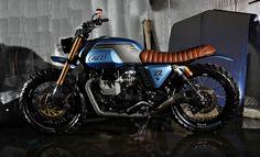 The Seagate – Moto Guzzi Classic Tracker Motorcycle, Cafe Racer Motorcycle, Motorcycle Style, Motorcycle Design, Bobber Custom, Custom Cafe Racer, Custom Motorcycles, Moto Cafe, Cafe Bike