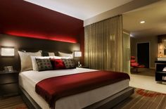 Contemporary and Chic King Suite Bedroom Interior Design of Hard Rock Hotel, San Diego