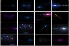 IXOUSART: 50 Destellos transparentes en alta resolución gratis - Photoshop-