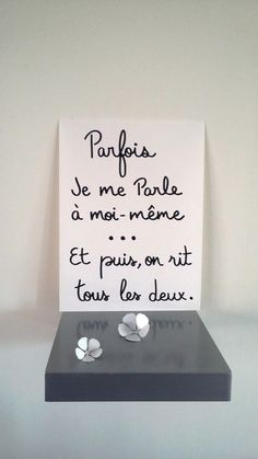 "Quotes and inspiration about Life QUOTATION - Image : As the quote says - Description affiche citation humour "" Parfois je me parle à Positive Attitude, Positive Vibes, Daily Quotes, Love Quotes, Quote Citation, Thinking Quotes, French Quotes, Some Words, Positive Affirmations"