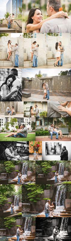 Uptown Charlotte engagement session | Creative Charlotte wedding photographer