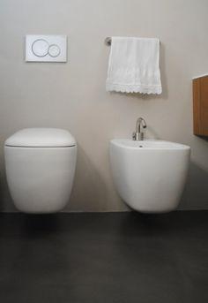 resina, pietra e ceramica suggeriscono spazi rilassanti. per ... - Sospesi Vanita Nero