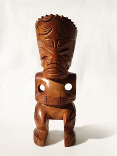 Vintage French Polynesian Tiki Wood Carved Sculpture From Marquesas Island of Tahiti on Etsy, $95.00