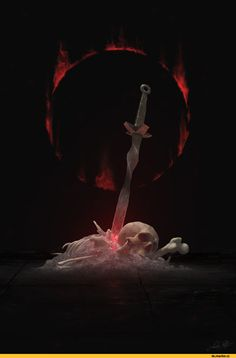 Dark Souls, fandom, dark sign, Games, beautiful pictures, Bonfire