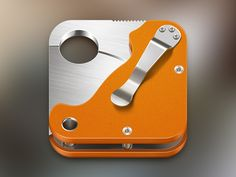 Nice. Reminds me of my Spydercard.  Spyderco Paramilitary 2 iOS icon by Denis Gomes