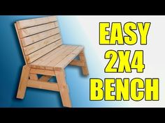 How To Build A Comfortable 2×4 Bench And Side Table   Jays Custom Creations