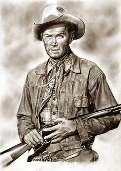 Winchester 73 ~ James Stewart es Lin McAdam by Peter Williams