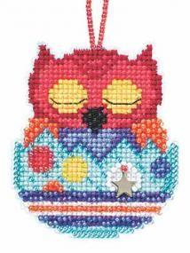 Huey Beaded Charmed Cross Stitch Kit Mill Hill 2015 Owlets - $5.99