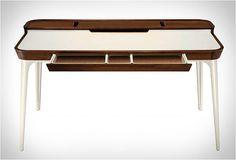 Modern Minimalist Home Office Desk Amalgamates Ergonomic Design With Elegant Form
