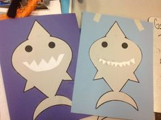 Today's Toddler Time craft was so popular we ran out!  Here is the template to print out if you want to make it from home. It is a simple shark outline you cut out and color. Y