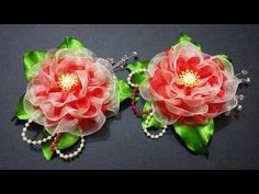 D.I.Y. Double Layered Organza Flower - Tutorial - YouTube