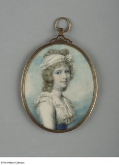 Portrait Miniature of Princess Charlotte Augusta by George Engleheart after Richard Cosway. Watercolor on ivory. (1800)