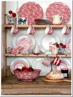 Burleigh Pottery has been making 'Red Calico' (& Blue Calico) since the begining - 1862.   Burleigh.co.uk