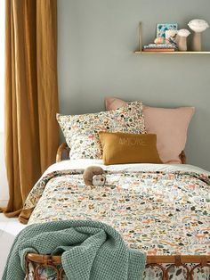 Cotton duvet cover quotEnchanted Forestquot printed white Home Clothing and . Cotton duvet cover quotEnchanted Forestquot printed white Home Clothing and decor Cyrillus Girls Bedroom, Bedroom Decor, Bedroom Ideas, Decor Room, Bedroom Designs, Girls Bunk Beds, Master Bedrooms, Master Suite, Casa Kids