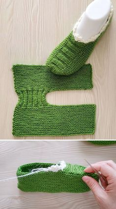 Knitting Stitches, Knitting Socks, Knitting Patterns Free, Free Knitting, Free Crochet, Knit Crochet, Crochet Patterns, Crochet Stitch, Knitted Slippers