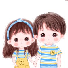 Cute Couple Cartoon, Cute Cartoon Drawings, Cute Cartoon Pictures, Cute Cartoon Girl, Cute Love Pictures, Cute Love Cartoons, Cartoon Girl Drawing, Cute Girl Illustration, Girl Cartoon Characters