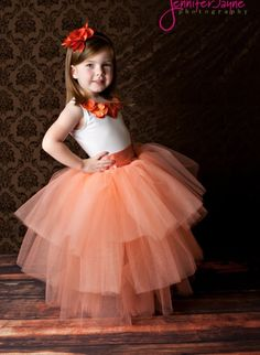 Love the idea of a flower girl in a tutu  Peach Tutu