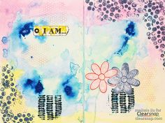 Art Journal Backgrounds Using Izink Inks by Meihsia Liu -  Check out how she had so much fun playing these new colors and loved the beautiful result they achieved! | Clearsnap Blog