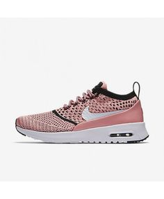 new product 744af f71af Chaussure Nike Air Max Thea Flyknit Rose Blanche Noir