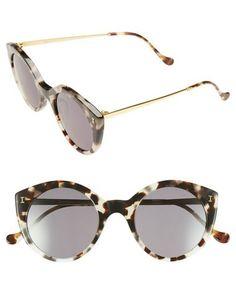 illesteva palm beach round sunglasses