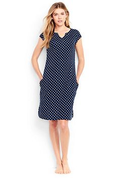 d02f5bb170c Women s Cotton Cap Sleeve Cover-up Dress Cover Up