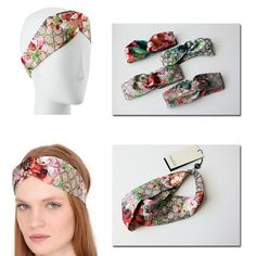 d687cc710d4 Designer 100% Silk Cross infinity Headband Fashion Luxury Brand Blooms  Print Silk Headband Elastic Hair