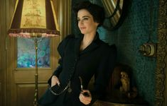 """Miss Peregrine watching over her peculiar children (Photo from """"The Art Of Miss Peregrine's Home For Peculiar Children"""") Eva Movie, Eva Green Penny Dreadful, Miss Peregrine's Peculiar Children, Peregrine's Home For Peculiars, Goth Baby, Miss Peregrines Home For Peculiar, Brooklyn And Bailey, French Actress, Pretty Woman"""