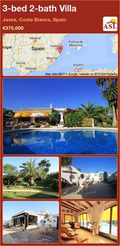 3-bed 2-bath Villa in Javea, Costa Blanca, Spain ►€375,000 #PropertyForSaleInSpain