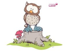 Owl Cartoon Pics, Cartoon Drawings, Animal Drawings, Cute Cartoon, Cartoon Picture, Clipart Baby, Nici Teddy, Chat Lion, Nerdy Baby Clothes