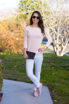 J. Crew Factory Scallop Camisole Top Review | scallop tank | scallop longsleeve tee | distressed denim | Caslon knit jacket | petite fashion and style blog | M. Gemi Pastoso review | M. Gemi Felize loafer moccasin flats review | Tory Burch polarized sunglasses | sidewalk skirt