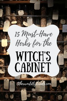 Starting your witch's herb cabinet? Check out our 15 MUST-HAVE herbs for witches here, including mint, yarrow, nettle, and more! Wicca Herbs, Witchcraft Herbs, Green Witchcraft, Wiccan Spells, Wiccan Quotes, Wiccan Books, Pagan Witch, Magic Herbs, Herbal Magic