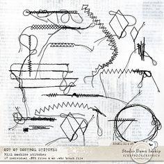 Out of Control Stitches #stitches #oocstitches #handmade #visualartmediabundle #dawninskip #scrapbookgraphics