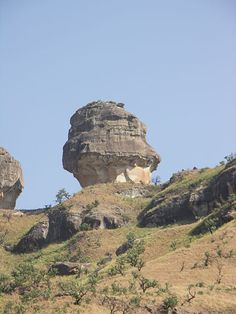 Policemen's Helmet along the Gorge Walk in the Royal Natal National Park. It is in the KwaZulu Natal province of South Africa and forms part of the uKhahlamba Drakensberg Park World Heritage Site.
