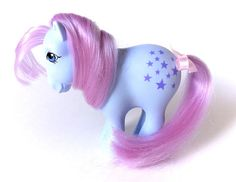 G1 My Little Pony Blue Belle Bluebelle MINT Original! www.CuteVintageToys.com  Hundreds Of Kawaii Vintage Toys From The 80s & 90s! Follow Me & Use The Coupon Code PINTEREST For 10% Off Your ENTIRE Order!  Dozens of G1 My Little Ponies, Polly Pockets, Popples, Strawberry Shortcake, Care Bears, Rainbow Brite, Moondreamers, Keypers, Disney, Fisher Price, MOTU, She-Ra Cabbage Patch Kids, Dolls, Blues Clus, Barney, Teletubbies, ET, Barbie, Sanrio, Muppets, Sesame Street, & Fairy Kei Cuteness!
