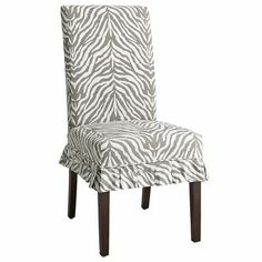 One advantage of parsons chairs...you can change your look without spending a fortune.  Dana Slipcover - Zebra Gray