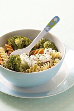 Recepty pro děti: Těstoviny s brokolicí a sýrem Cottage
