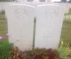 Private A.Penn & Private A.Troughton 1st Bn. Royal Welch Fusiliers Executed for desertion 22/04/1915 Estaires Communal Cemetery