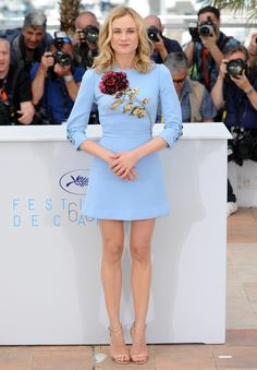 Diane Kruger in Dolce & Gabbana dress, Jimmy Choo shoes - 2015 Cannes Film Festival. (May 2015)
