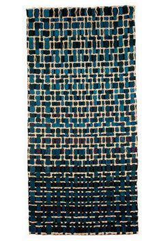 'En la Noche' by textile weavers Eduardo and Maria Portillo from exhibition 'Azul Indigo' in Caracas.