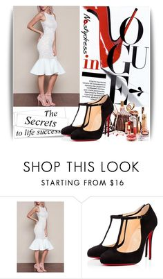 """Nastydress 17/1."" by lejlayavuz ❤ liked on Polyvore featuring Christian Louboutin and nastydress"