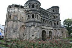 Trier, Germany: Roman ruins in middle of town