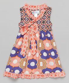 Sweet Fable Desert Flower Faux Wrap Dress - Toddler & Girls by Sweet Fable #zulily #zulilyfinds