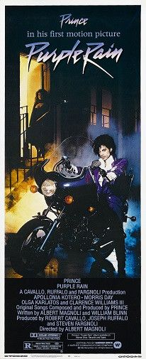 Purple Rain Movie Poster Insert Size 14x36 Prince Poster