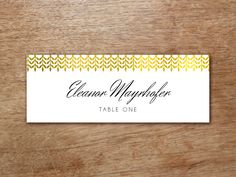 Printable Place Card  Calligraphy Monogram  Place Card Place