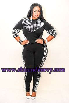 New Plus Size Black and White Race Car Crop Top 1X 2X 3X and New Plus Size Black and White Race Car Leggings 1X 2X 3X available at www.chicandcurvy.com