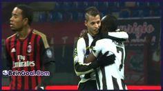 Goal Lopez - Milan 1-2 Udinese - 22-01-2014 Highlights   BeinGoal.Com