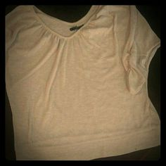 Maurice's  3/4 length sleeve sweater Sweater is light.  3/4 length sleeves.  Ivory with gold glitter. Maurices Tops