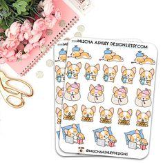i0105 Planner stickers corgi stickers icon stickers cute